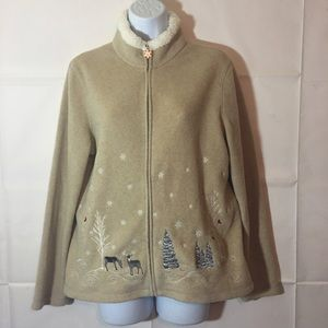 Jackets & Blazers - Winter Scene Coat Size PM